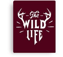 The Wild Life - version 1 - White Canvas Print