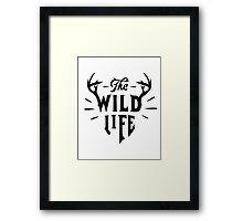 The Wild Life - version 2 - Black Framed Print