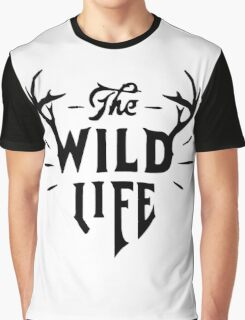 The Wild Life - version 2 - Black Graphic T-Shirt