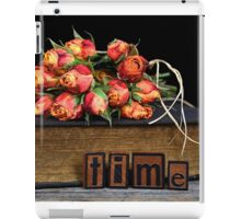 orange rose bouquet on vintage book iPad Case/Skin
