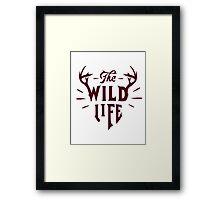 The Wild Life - version 3 - Bordeaux Framed Print