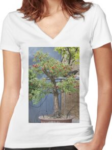 bonsai in the garden Women's Fitted V-Neck T-Shirt