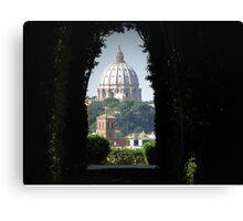 Aventine keyhole, rome Canvas Print