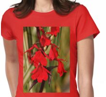Intense Red Lobelia Womens Fitted T-Shirt