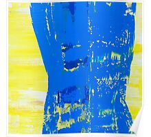 Abstract Blue and Yellow Poster