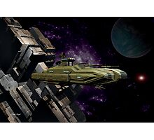 Space Battle Cruiser  Photographic Print