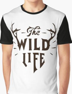 The Wild Life - version 4 - Brown Graphic T-Shirt