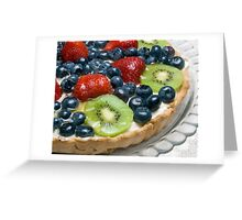 Fruit Tart Greeting Card