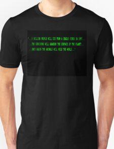 12 Monkeys Intro Screen Unisex T-Shirt