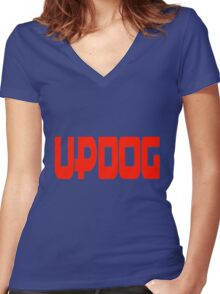 What's updog? Women's Fitted V-Neck T-Shirt