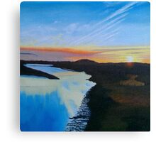 Sunset In the Moors Canvas Print