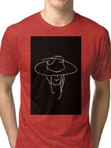 James Bay Inspired Outline product Black + White Tri-blend T-Shirt