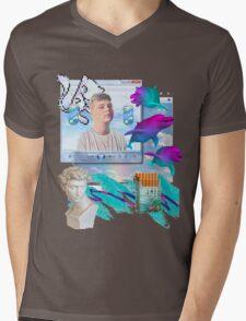 Air World Vaporwave Aesthetics Mens V-Neck T-Shirt