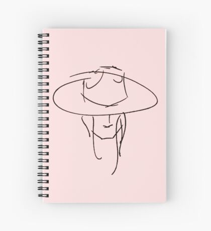 James Bay Outline product-Pink+Black  Spiral Notebook