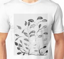 Red and Green Leaves! Romantic Silver Grey! Unisex T-Shirt