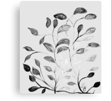 Red and Green Leaves! Romantic Silver Grey! Canvas Print