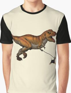 T Rex and his dog Graphic T-Shirt