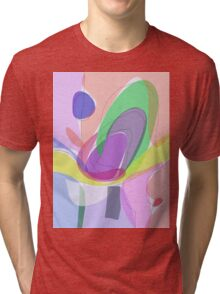 Philosophical Tree, Flower and Fruit Tri-blend T-Shirt