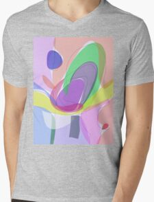 Philosophical Tree, Flower and Fruit Mens V-Neck T-Shirt