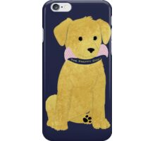 Cute Preppy Golden Retriever Puppy iPhone Case/Skin