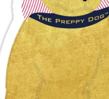 Cute Preppy Golden Retriever Puppy Sticker