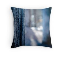 The Blurred Forest Throw Pillow