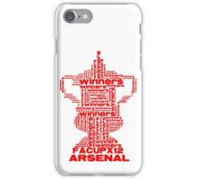 ARSENAL FA CUP WINNERS X 12 iPhone Case/Skin