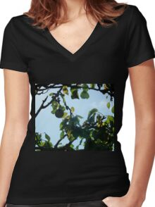 The Partridge Has Flown.. Women's Fitted V-Neck T-Shirt