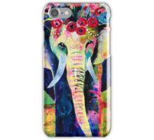 Gentle Elephant Flowers In Her Hair iPhone Case/Skin