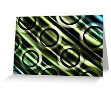 Green Yellow Blue Circles Design Greeting Card