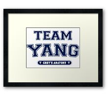 Team Yang  Framed Print