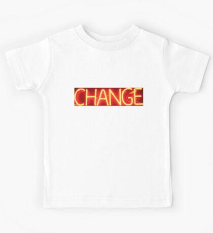 Neon Sign - Change Kids Tee