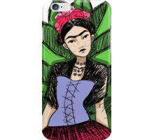 Frida Kahlo in colours iPhone Case/Skin