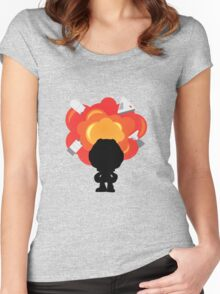 Kerbal Space Program Explosion Women's Fitted Scoop T-Shirt