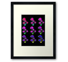 Psychedelic mushrooms Framed Print