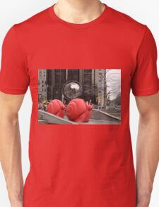 Red Snail and Globe T-Shirt