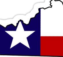 Texas flag Kentucky outline Sticker