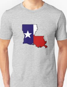 Texas flag Louisiana outline Unisex T-Shirt