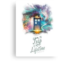 Trip of a Lifetime - TARDIS Canvas Print