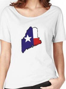 Texas flag Maine outline Women's Relaxed Fit T-Shirt