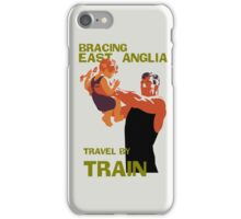East Anglia England retro vintage travel by train advert iPhone Case/Skin