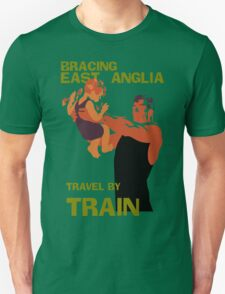 East Anglia England retro vintage travel by train advert T-Shirt