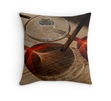 Napa Red Throw Pillow