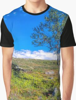 Landscape with a lonely tree Graphic T-Shirt