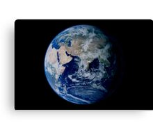 Earth from space showing eastern hemisphere. Canvas Print