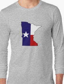 Texas flag Minnesota outline Long Sleeve T-Shirt