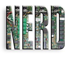 NERD Computer Motherboard Letters Canvas Print