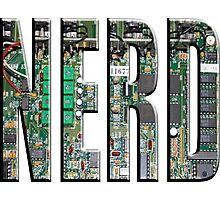 NERD Computer Motherboard Letters Photographic Print
