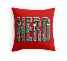 NERD Computer Motherboard Letters Throw Pillow