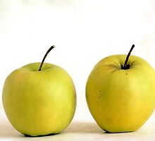 Two Apples by Ingvar Bjork Photography
